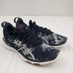 Asics GEL-Fit Sana 2 Running Shoes Black White 7.5